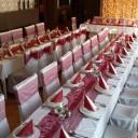 Esküvői asztal az étteremben
