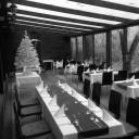 Karácsonyi dekoráció az étteremben