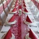 Asztal dekoráció az esküvőre
