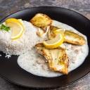 Fogas filé kárpáti módra rizs körettel 2,4,7 - Aranyhordó Étterem és Pálinkaház