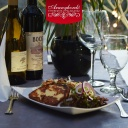 Füstölt sajt steak, görög salátával - Aranyhordó Étterem és Pálinkaház