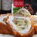 Komáromi csirkemell, fűszeres steak burgonyával 1,3,7 - Aranyhordó Étterem és Pálinkaház