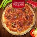Szalámis pizza - Aranyhordó Étterem és Pálinkaház